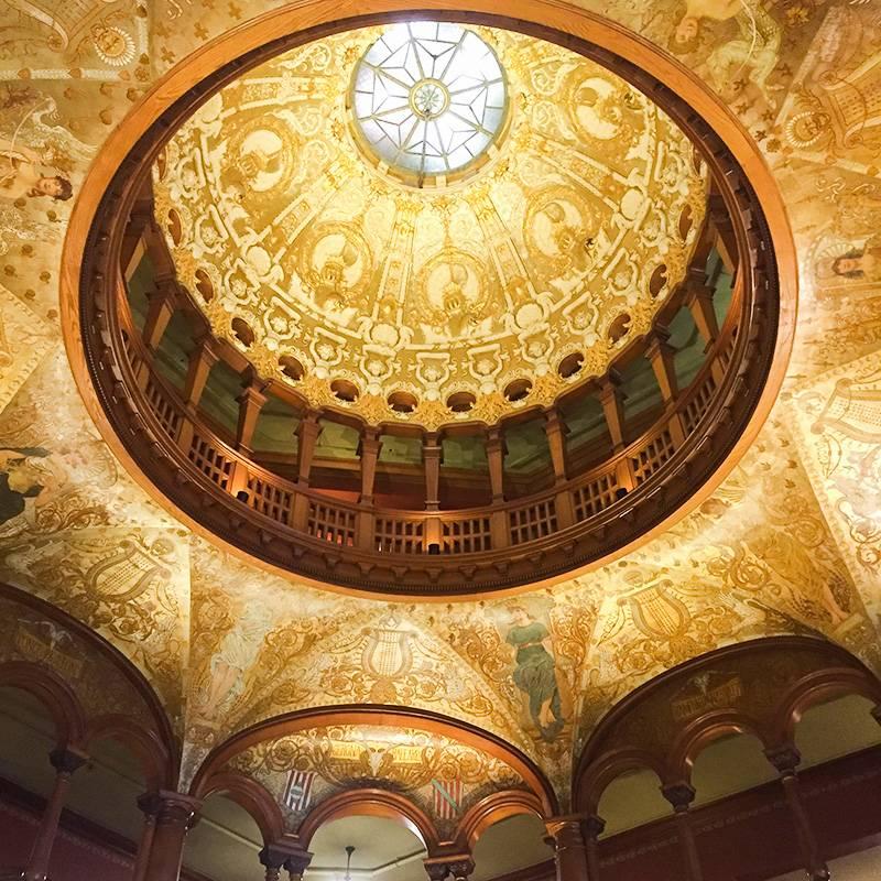 Ротонда в лобби. Гостиницу, в здании которой разместили колледж Флаглера, проектировали архитекторы отеля «Альказар»