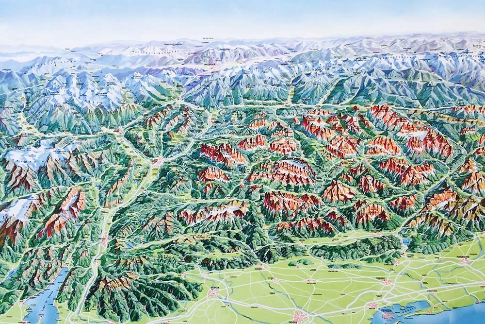 Доломиты — рыжие, Альпы — белые