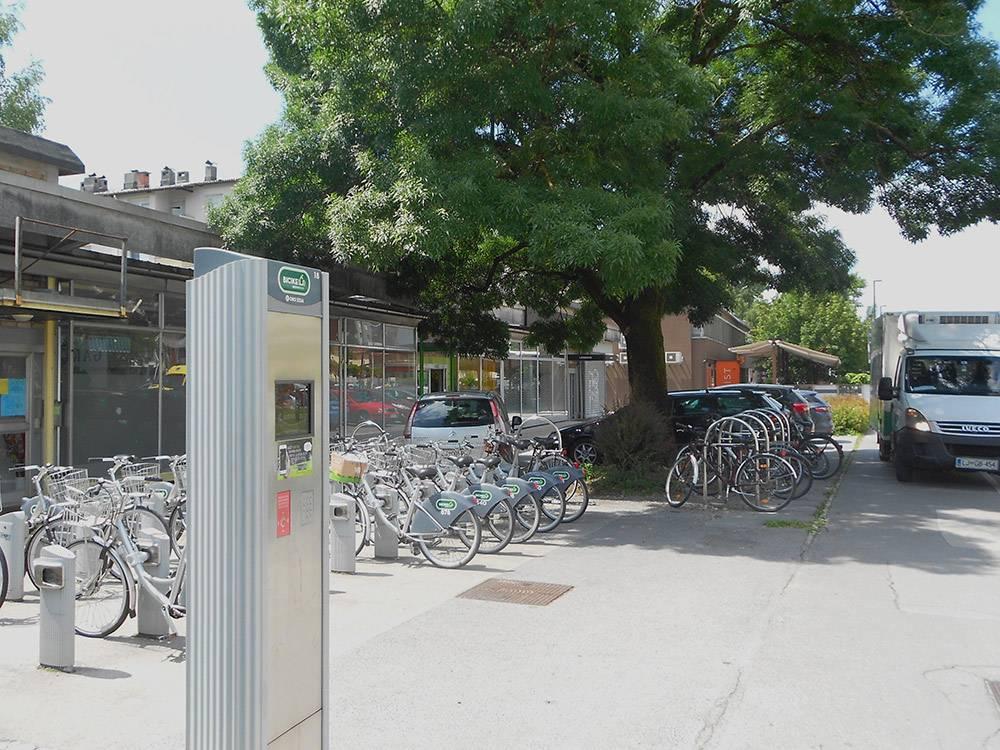 Городской автоматический пункт проката велосипедов Bicikelj