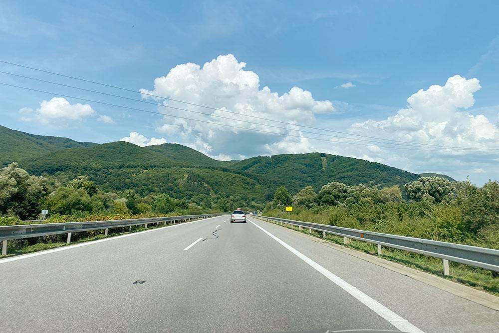 Горы по пути в Жилину