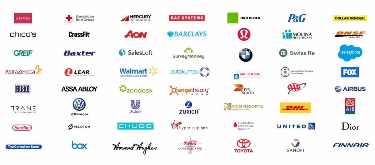 Логотипы клиентов компании. Источник: презентация компании, слайд 7