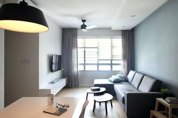 Внутри HDB — социального жилья — может быть стильный ремонт по дизайнерскому проекту. Источник: Propertyguru.com.s