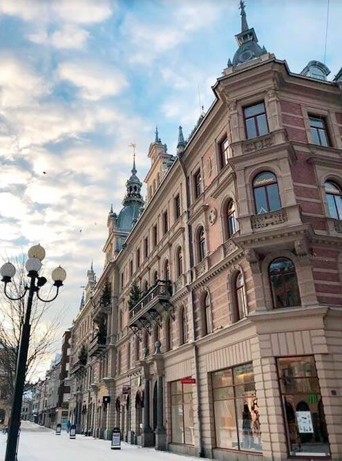 Центр Сундсвалля застроен изящными каменными зданиями, которые возводили лучшие архитекторы из Стокгольма