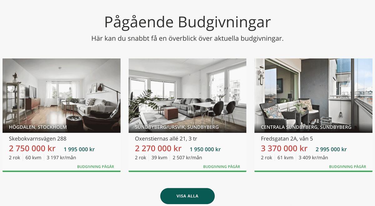 Один из главных сайтов для покупки или продажи жилья — notar.se