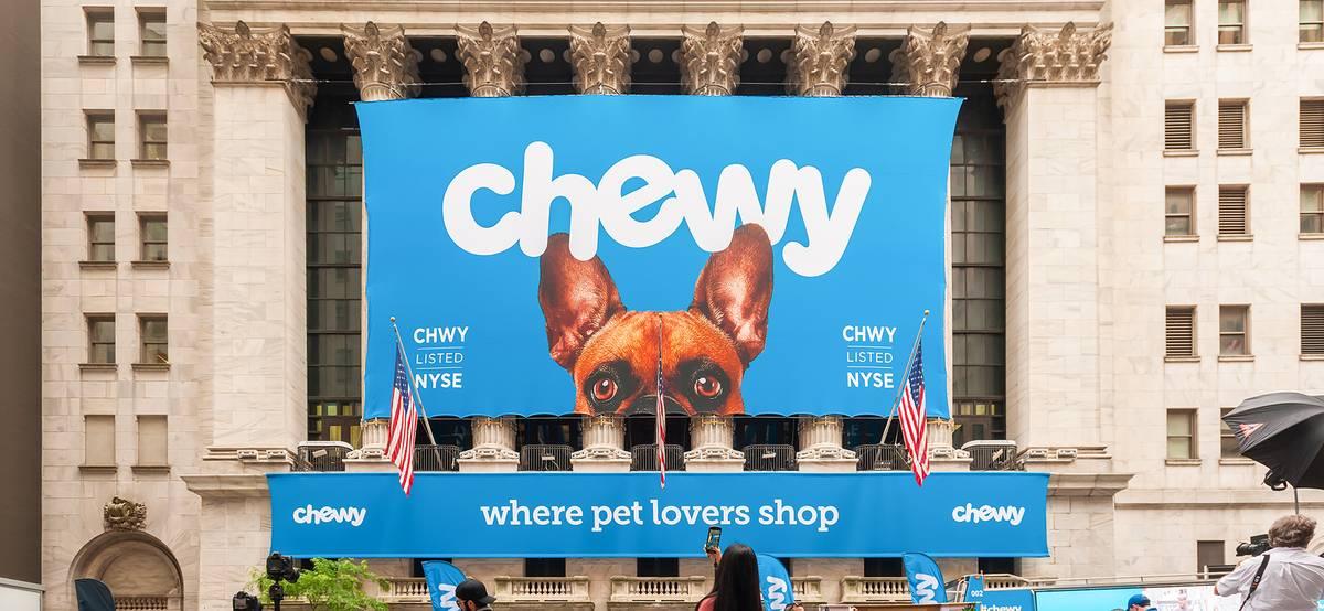 Акции Chewy упали на 10% после отчета