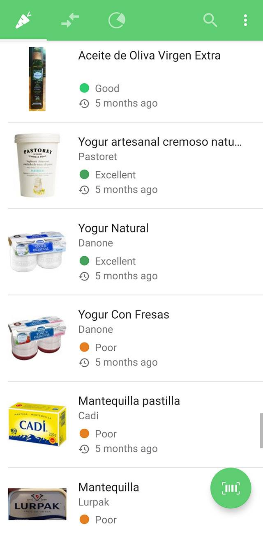 С помощью «Юки» можно отсканировать штрихкод — и приложение выдаст оценку товара. Особенно оно помогает мне с выбором молочной продукции. В России, насколько я знаю, приложение пока не работает