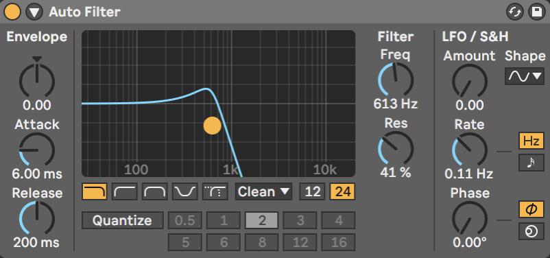Инструмент дляподрезания частот музыки на фоне — автофильтр