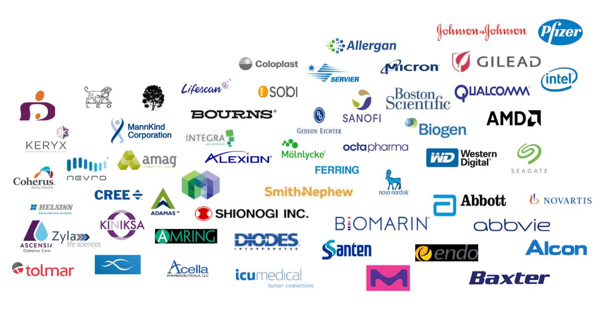 Логотипы клиентов компании. Источник: презентация компании, слайд9