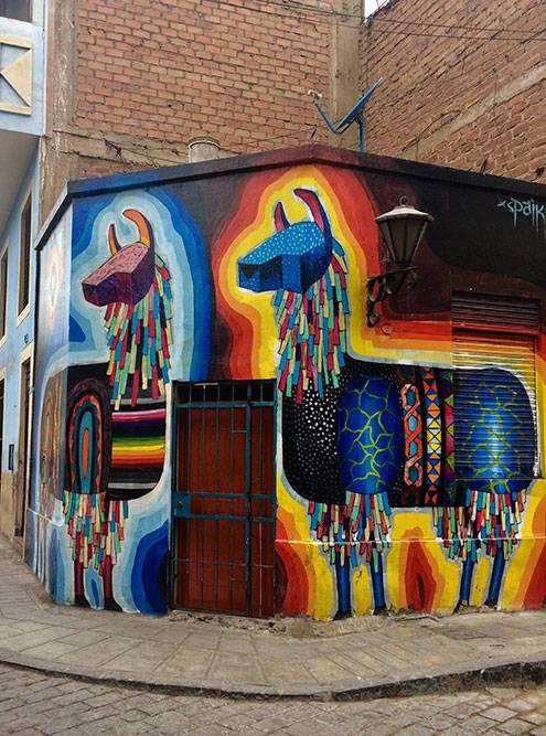 Кроме музея «Мак» современное искусство можно увидеть на улицах Лимы в районах Барранко и Ла-Пунта