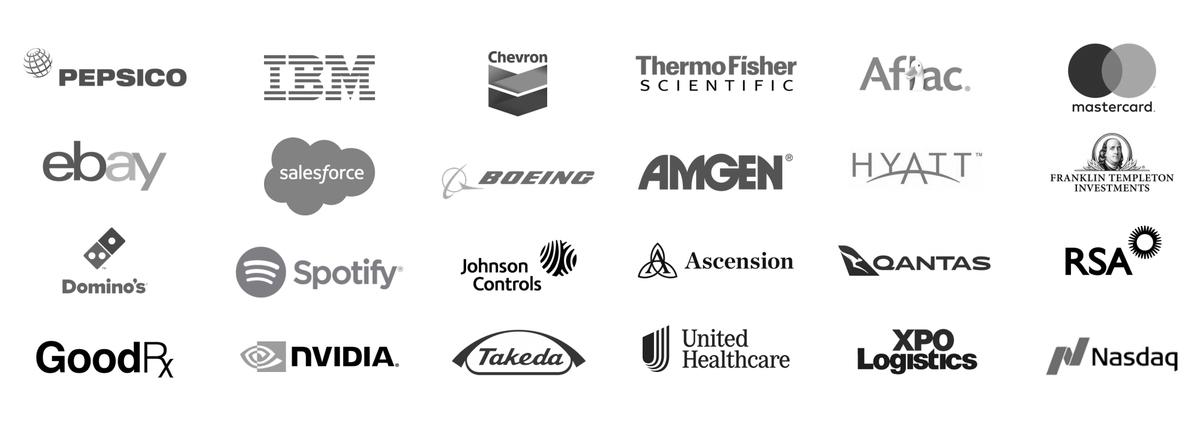 Логотипы клиентов компании. Источник: презентация компании, слайд12