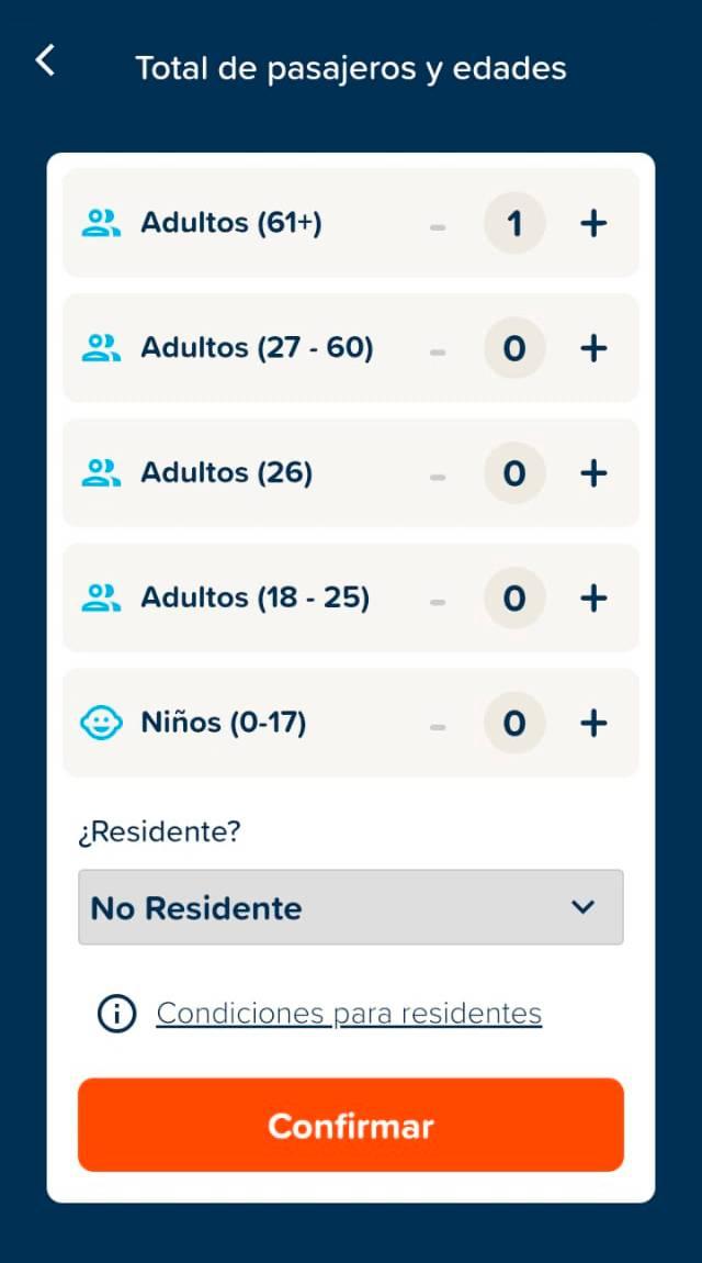 Интересно, что выбрать более узкую категорию возраста пассажира сайт directferries.co.uk позволяет только с телефона. Вот как это выглядит