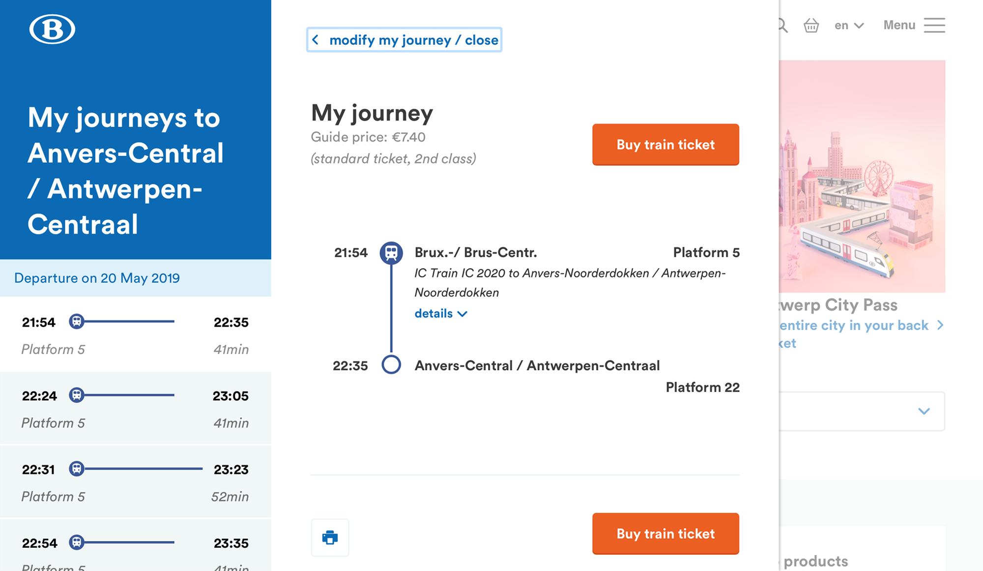 Билет из Брюсселя в Антверпен стоит 7€ (511<span class=ruble>Р</span>)