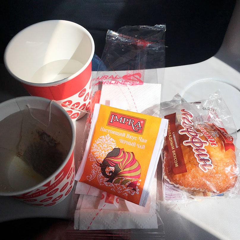 Скромный обед от «Уральских авиалиний»