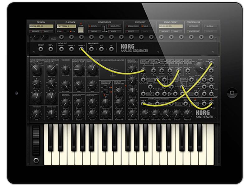 И сама же компания Korg сделала Айпад-версию этого синтезатора. По словам пользователей, разница в миксе не чувствуется