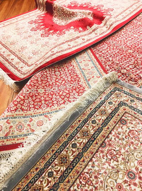 Шелковые ковры с синтетикой из магазина «Степ-хали»