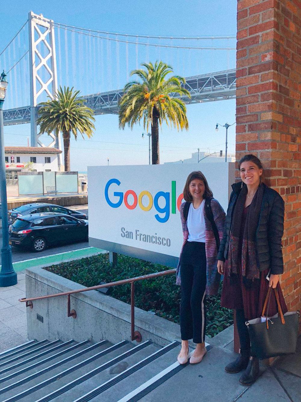 Во время учебы мы посещали различные компании. Например, ездили в офис Гугла в Сан-Франциско