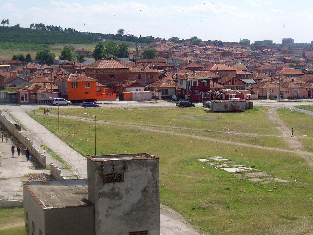 Цыганский квартал, рядом с которым мы жили в Ямболе