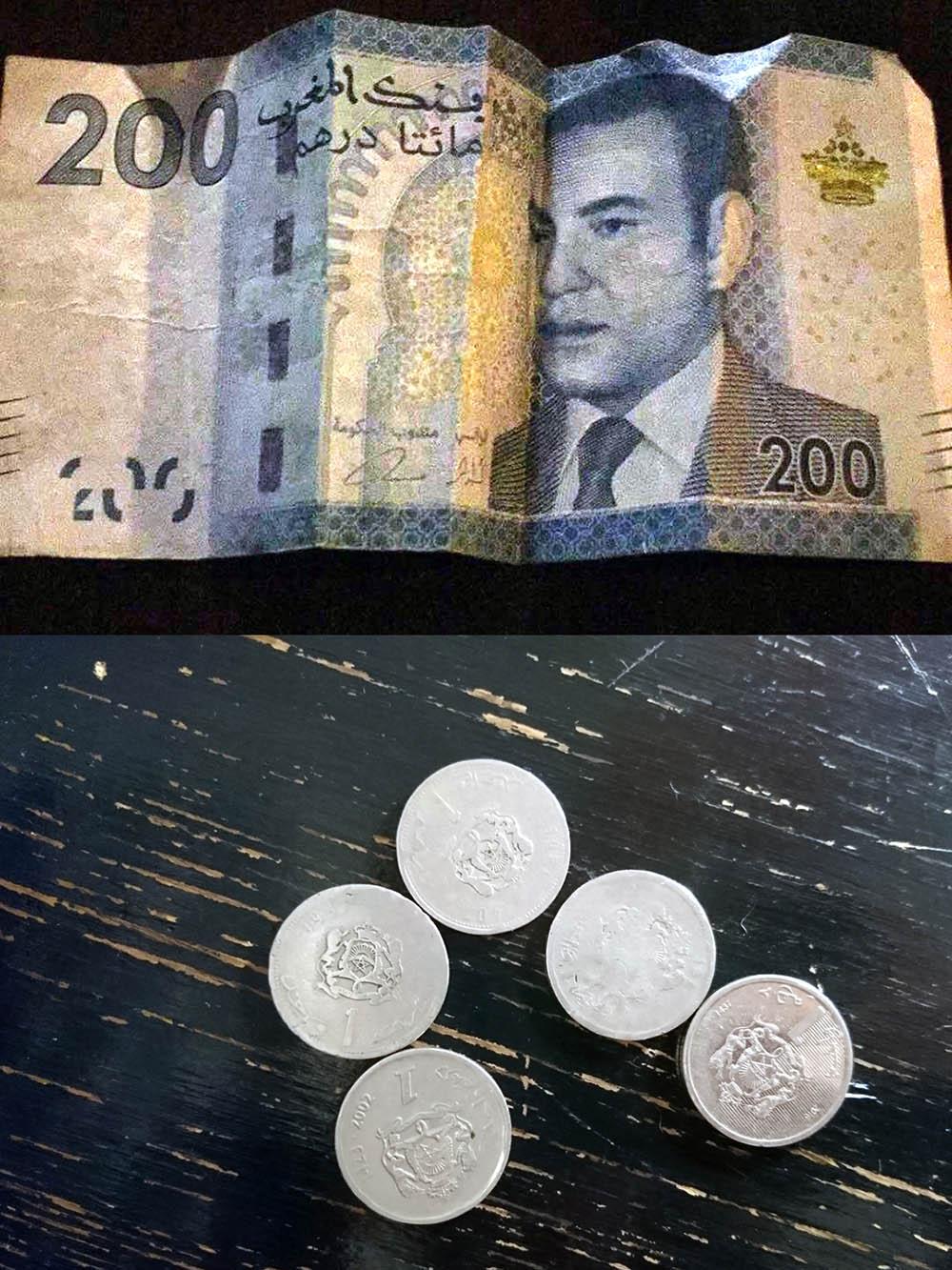 Купюра в 200 дирхамов. Евро проще обменять на местную валюту, чем доллары
