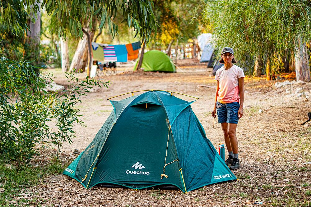 Наша палатка в кемпинге
