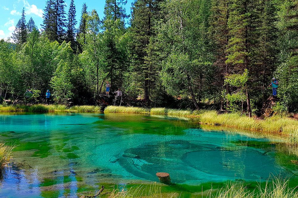 Из-за бьющих термальных источников поверхность воды визуально искажается — зрелище очень необычное