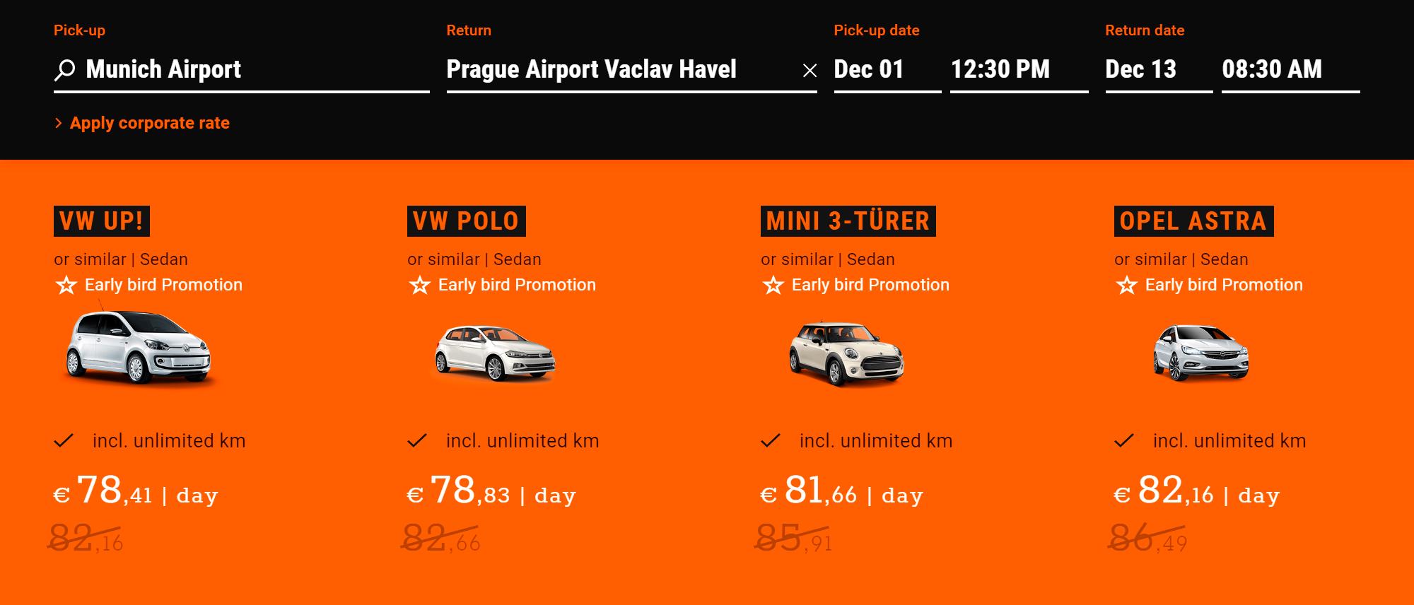 Иногда вернуть авто можно даже в другой стране. Но стоить это может очень дорого. Например, в «Сиксте» Фольксваген Поло можно взять в Мюнхене и вернуть в Праге за 78,8€ (6132<span class=ruble>Р</span>) в день