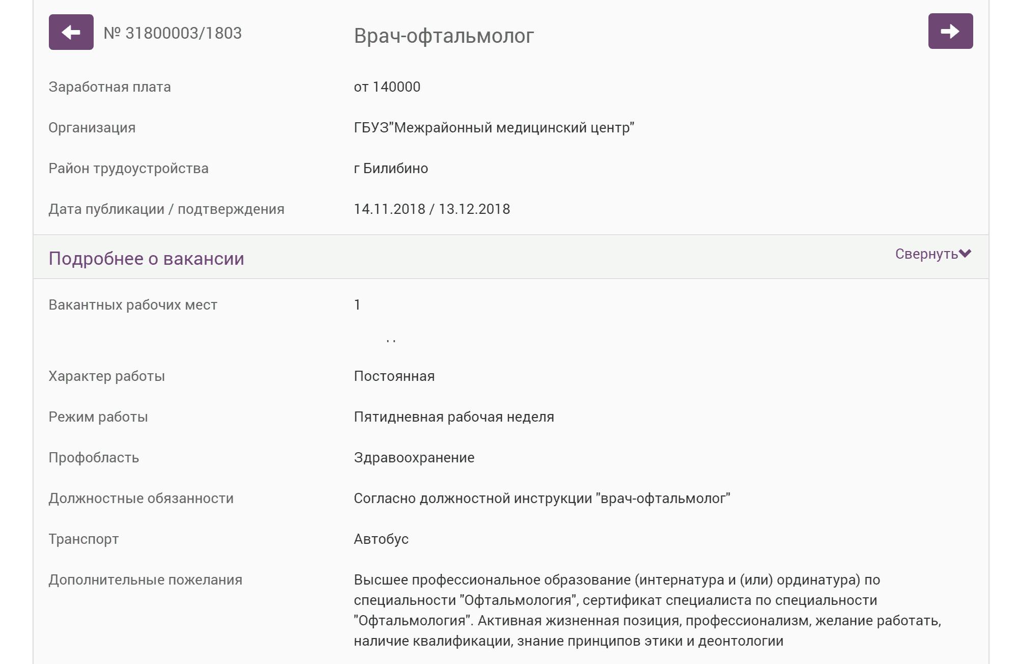 Врач-офтальмолог получает от 140 000<span class=ruble>Р</span>. Требования к квалификации серьезные