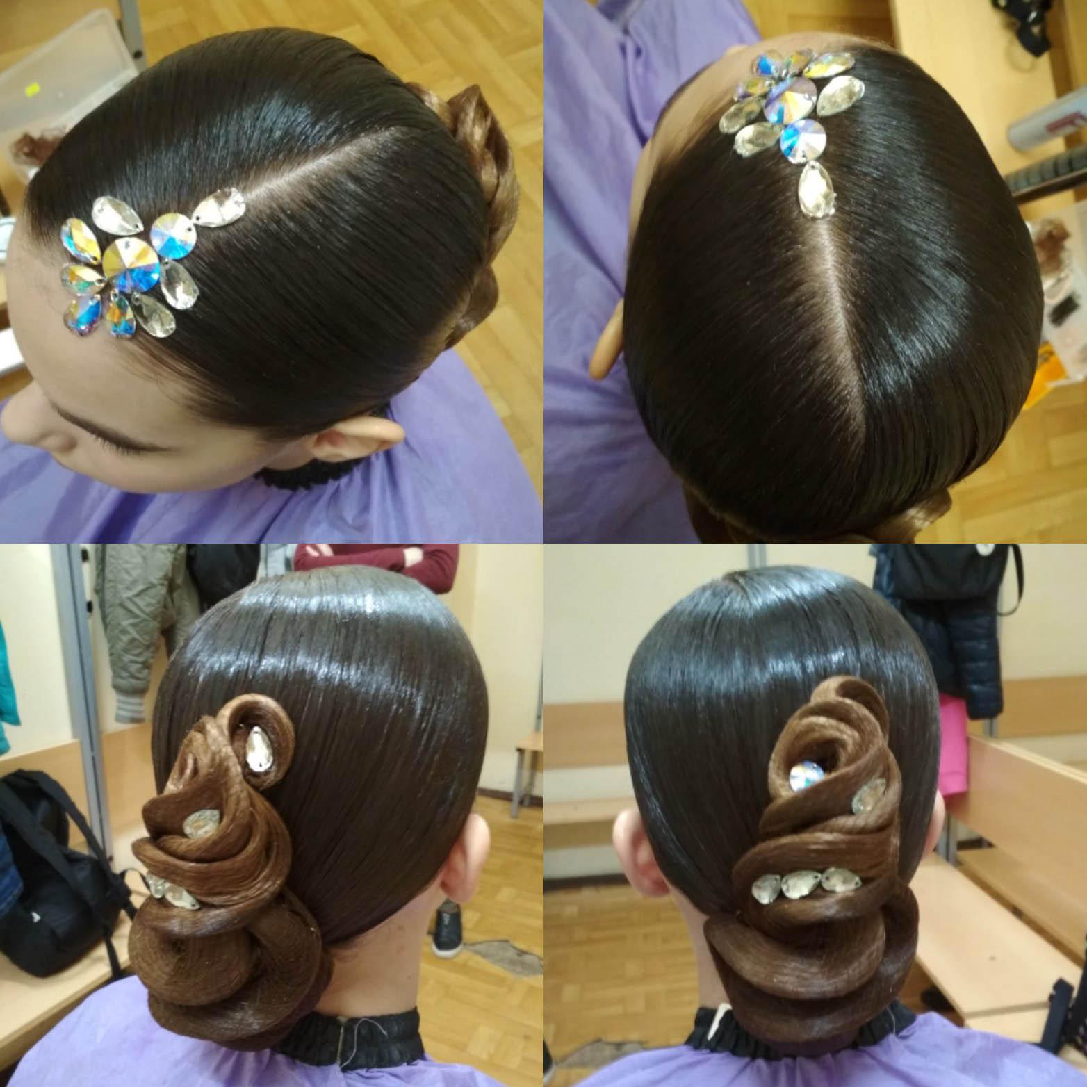 Прическа для бальных танцев — это всегда обилие лака для волос и вычурные пучки. Источник: группа «Прически и макияж для бальных танцев Style4dance»