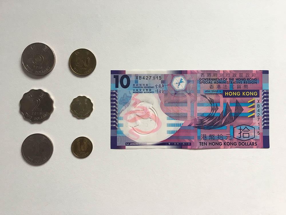 Монеты и купюры в 10 HKD выпускает только правительство