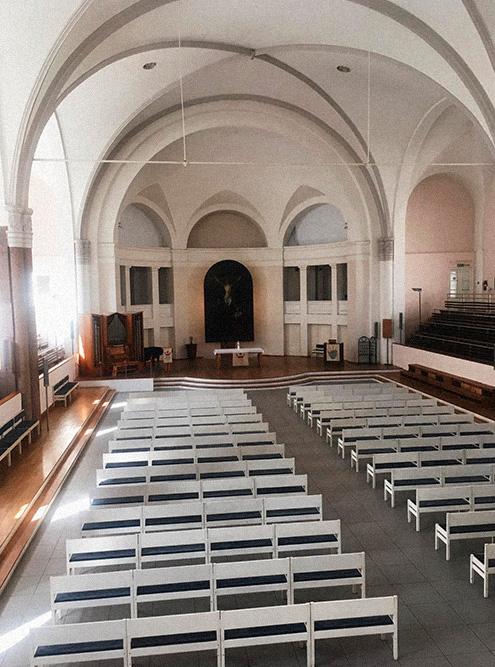 Церковь Петрикирхе. В советские времена тут работал бассейн, а теперь бывают хорошие органные концерты