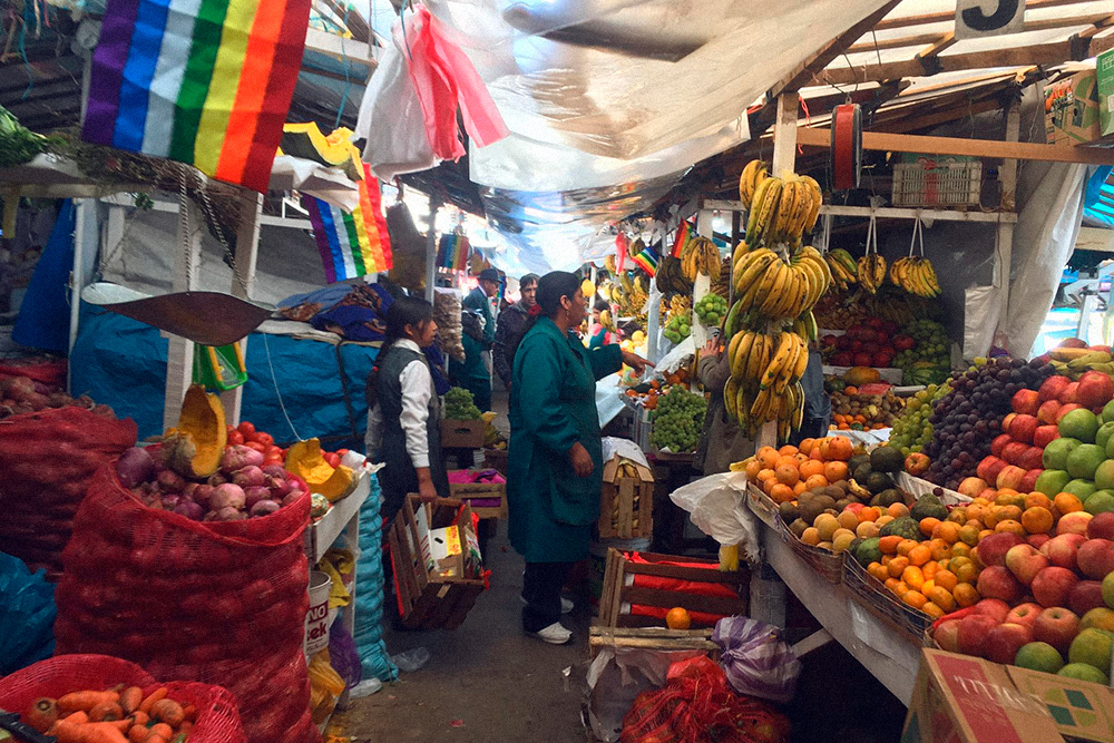 Рынок в Куско, Перу, 2018год