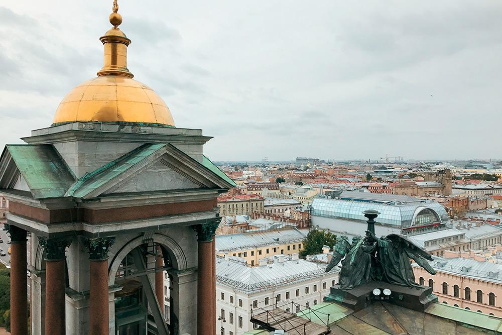 Вид с колоннады Исаакиевского собора. Фото: АнастасияОсян