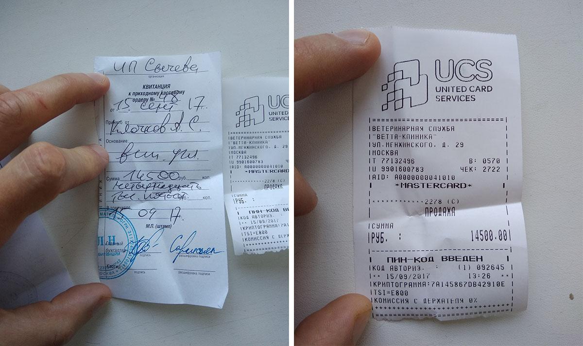 Александр оплатил визит врачей-мошенников картой Тинькофф-банка и сохранил чек и квитанцию. Эти документы помогли вернуть деньги