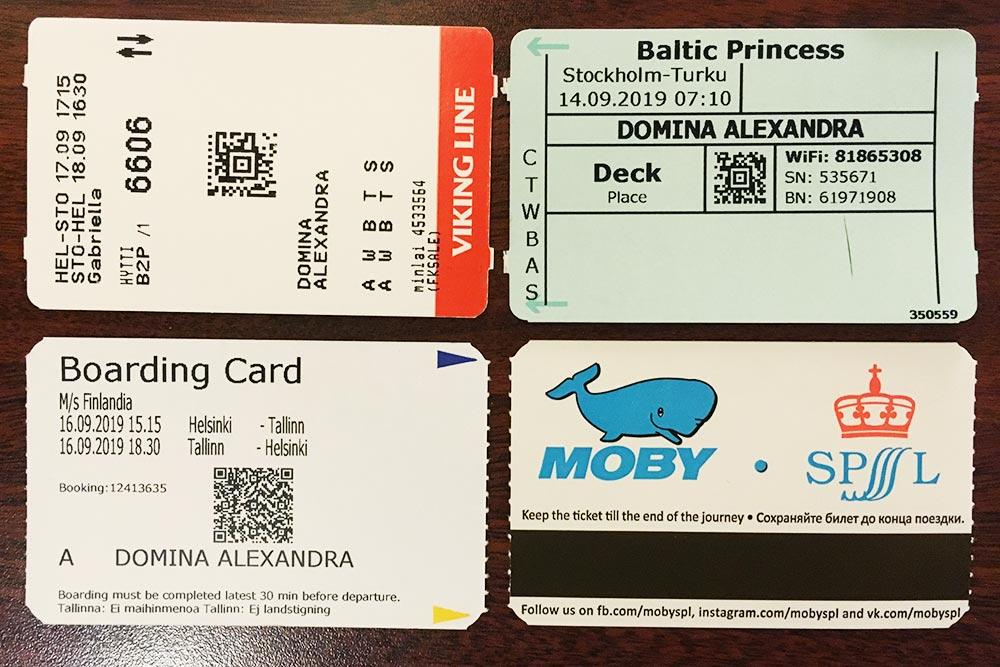 Билеты по маршруту Петербург — Таллин — Хельсинки — Стокгольм — Хельсинки и Стокгольм — Турку стоили мне 62,5€ (4315<span class=ruble>Р</span>)