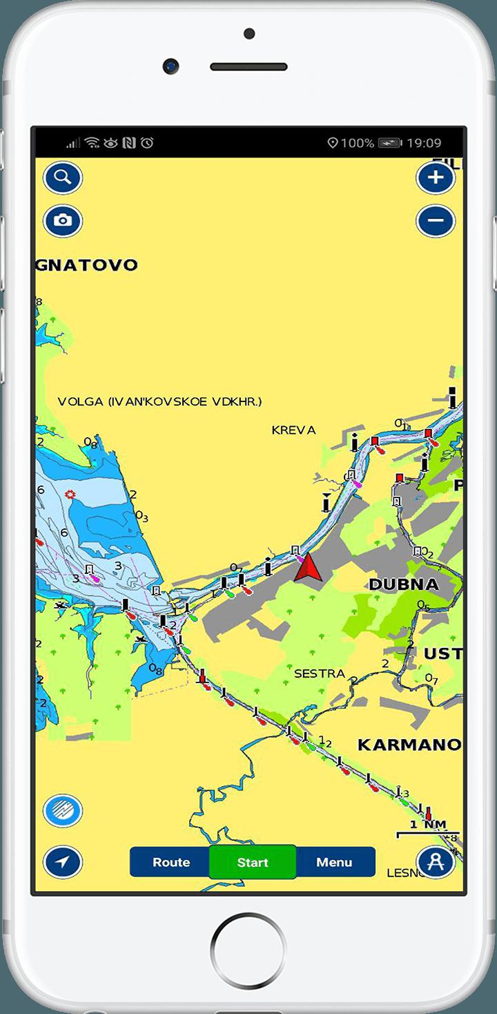 Карта центрального региона Волги стоит 1300 р. в год