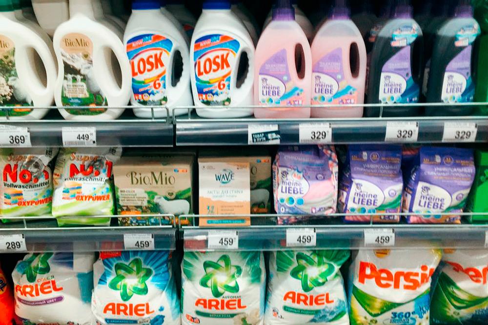 Наш товар на полке супермаркета «Перекресток»