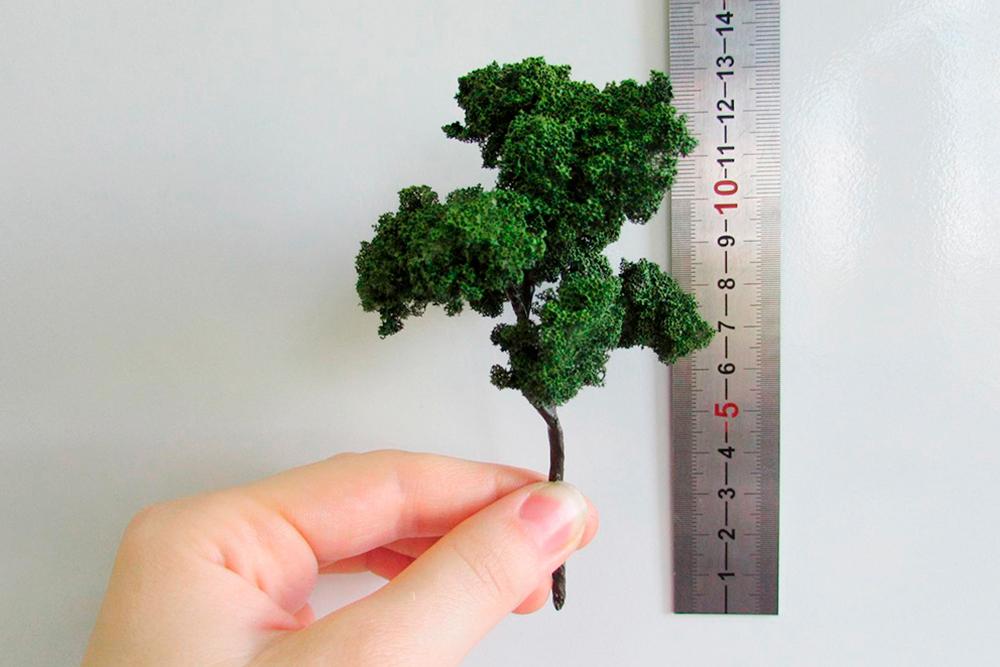 Собственное производство позволяет выбирать разный масштаб деревьев, кустарников и цветов