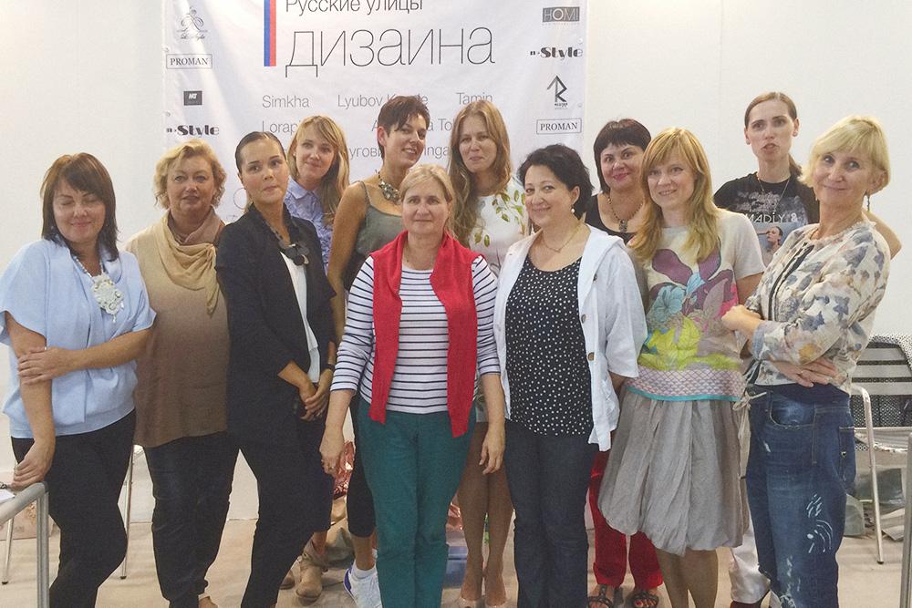 Я с участницами выставки «Homi» в Милане в 2015году