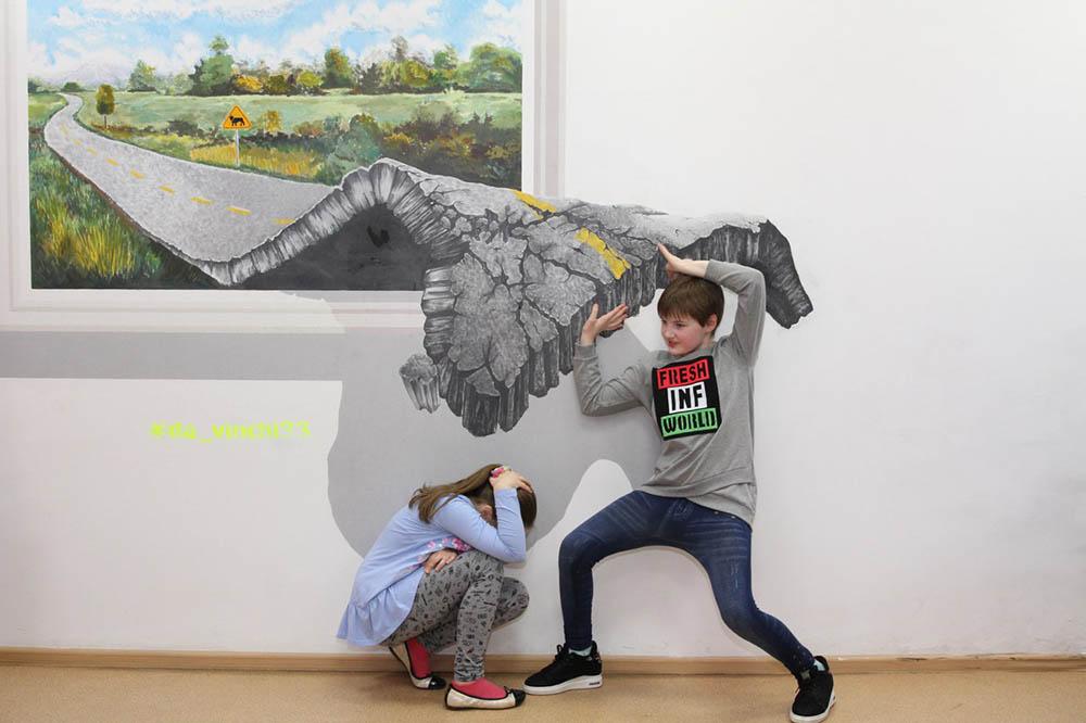 Чтобы человек стал частью 3Д-картины, он должен встать в конкретную точку, а фотограф — соблюсти расстояние и ракурс съемки
