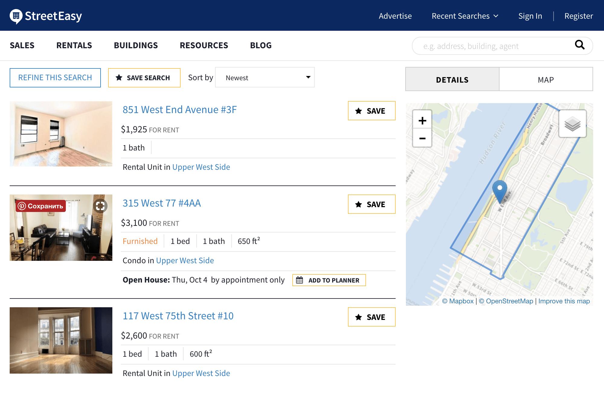 Цены на аренду квартир типа «студио» и 1 BR в нашем районе