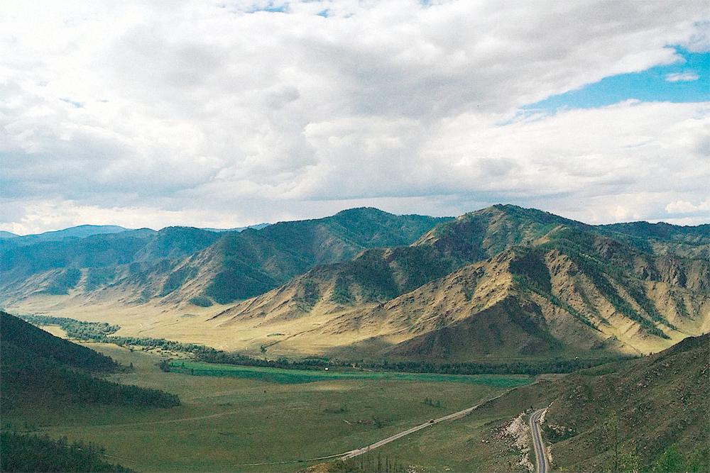 Вид с вершины перевала Чике-Таман