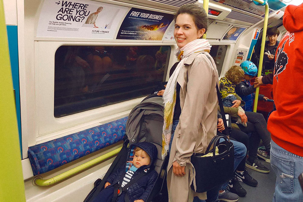 Место для коляски в Лондонском метро