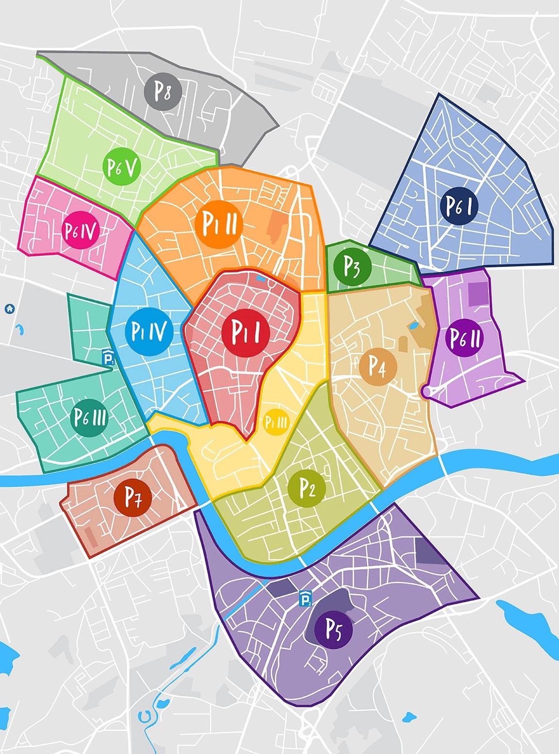 Зоны платной парковки Кракова. О подробном описании зон с улицами я читала на сайте городской инфраструктуры
