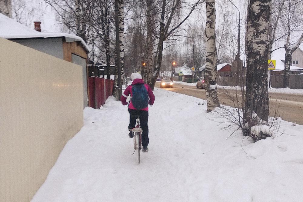 На велосипедах в Сыктывкаре ездят в любую погоду