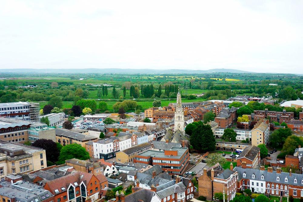 Вид на Глостер с высоты