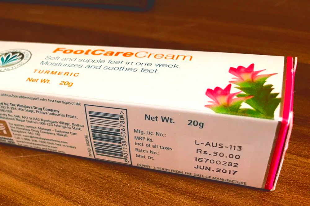Цена фабричных товаров всегда указана производителем на упаковке. Этот крем стоит 50 ₹ (45<span class=ruble>Р</span>)