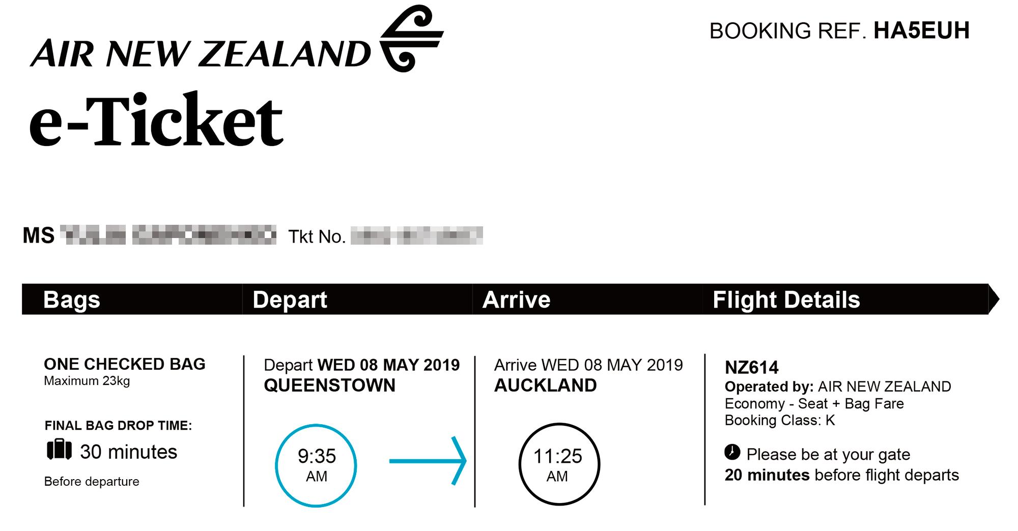 За перелет между островами Новой Зеландии я заплатила 4560<span class=ruble>Р</span>