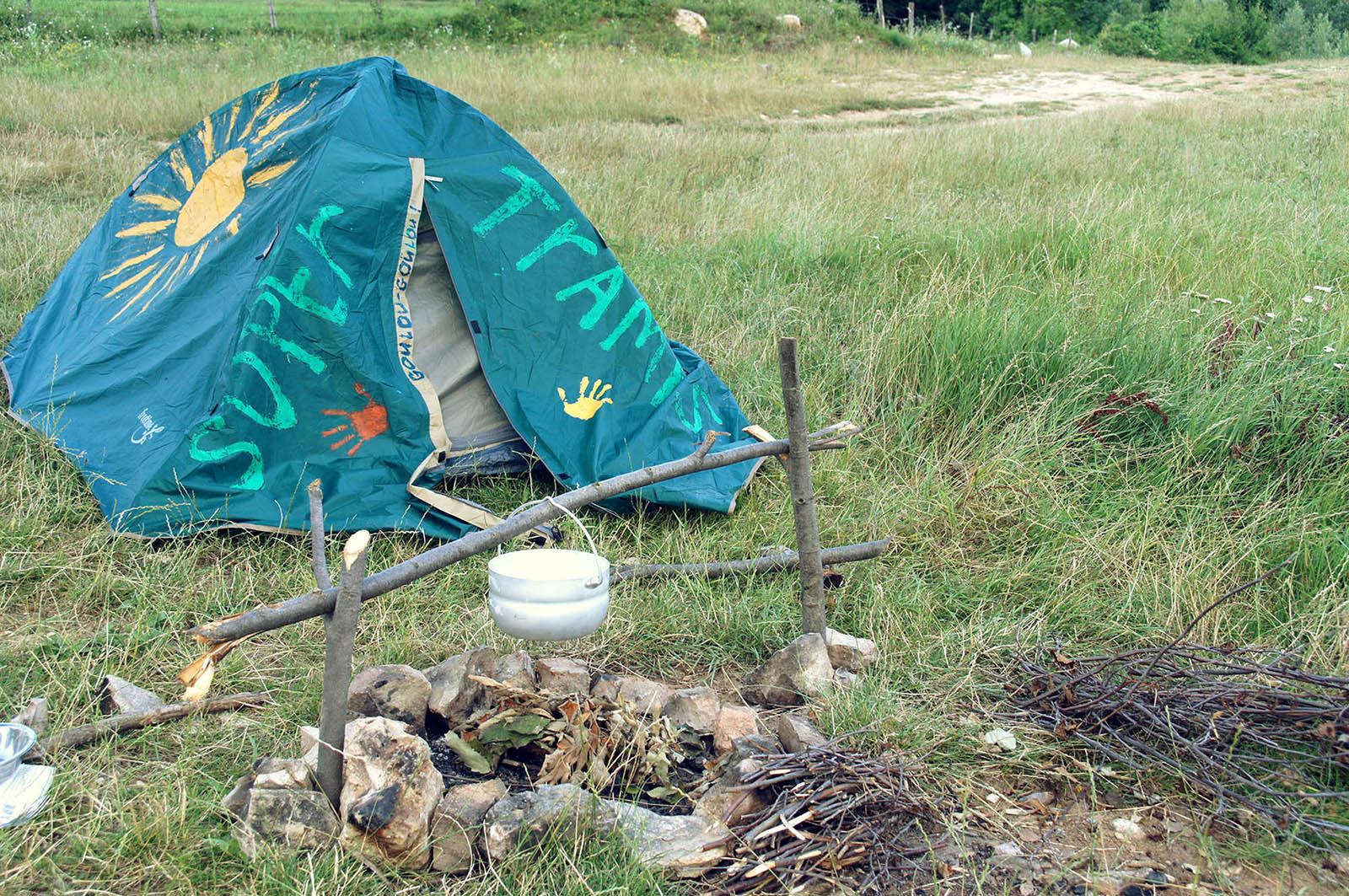 В Боснии я разбила маленький лагерь на берегу озера, которого нет на картах