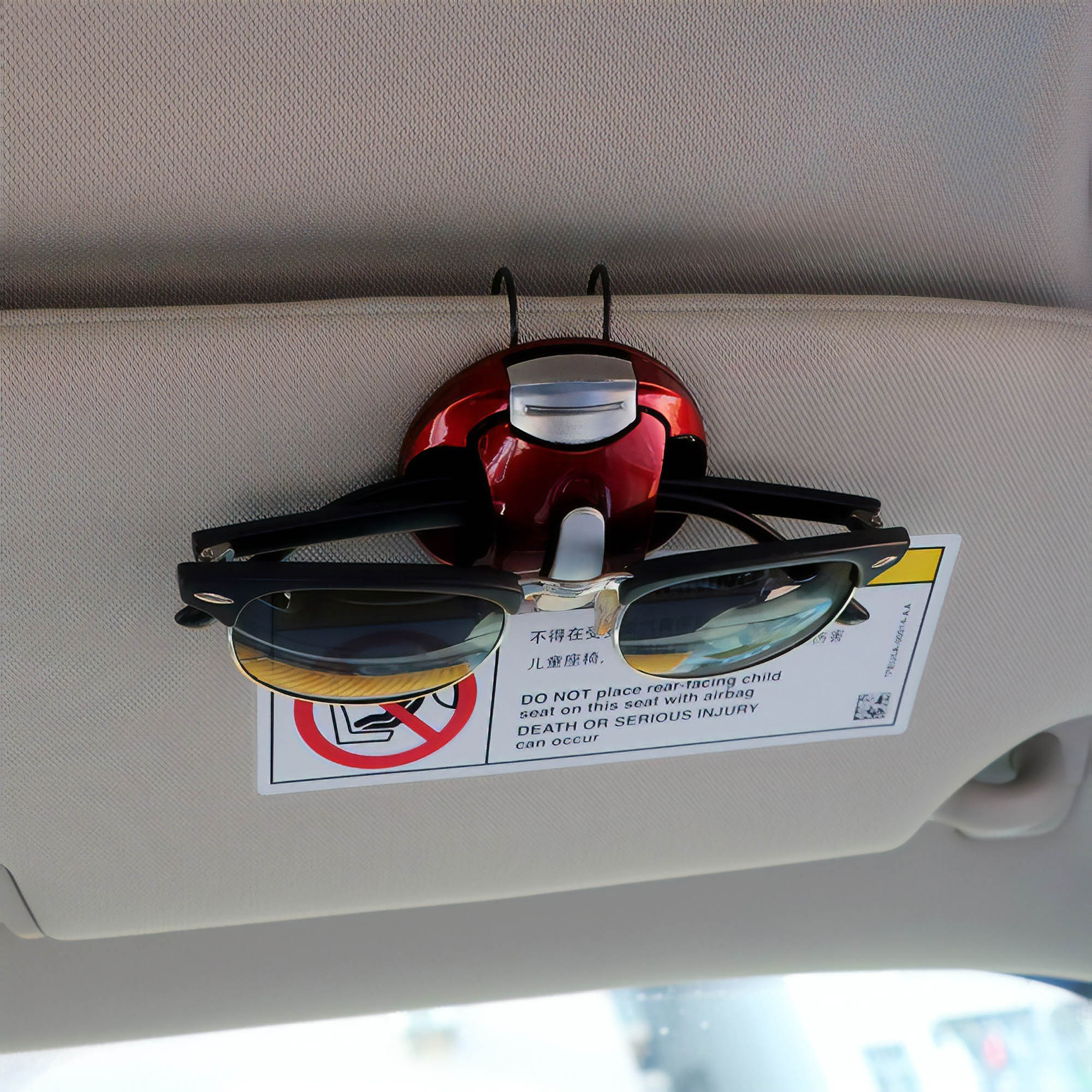 Автомобильный держатель для очков, комплект из 3 штук стоит 350 р.