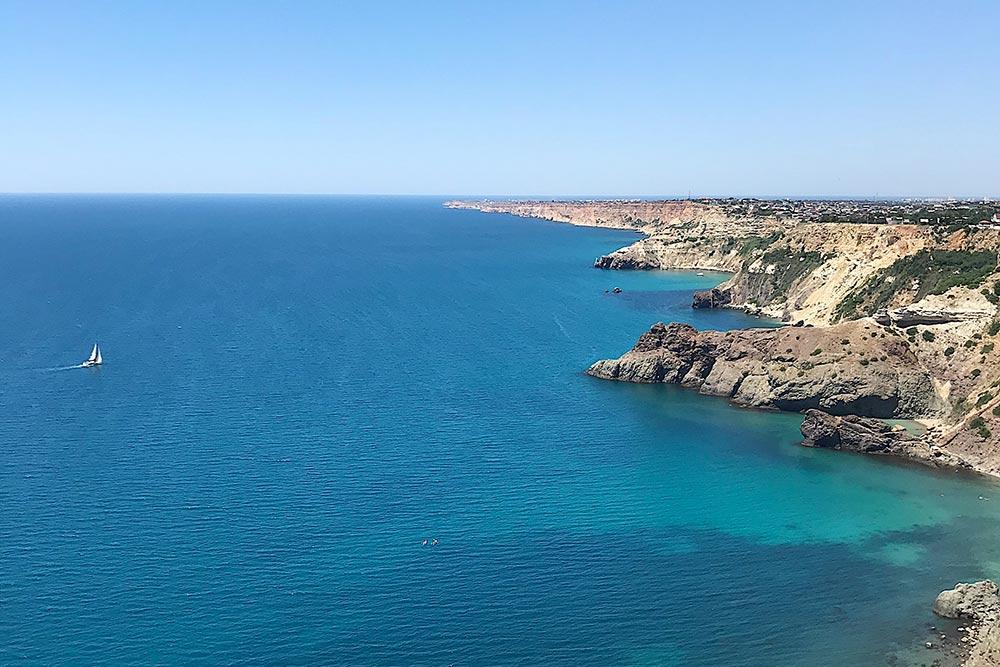 Вид на море с мыса Фиолент