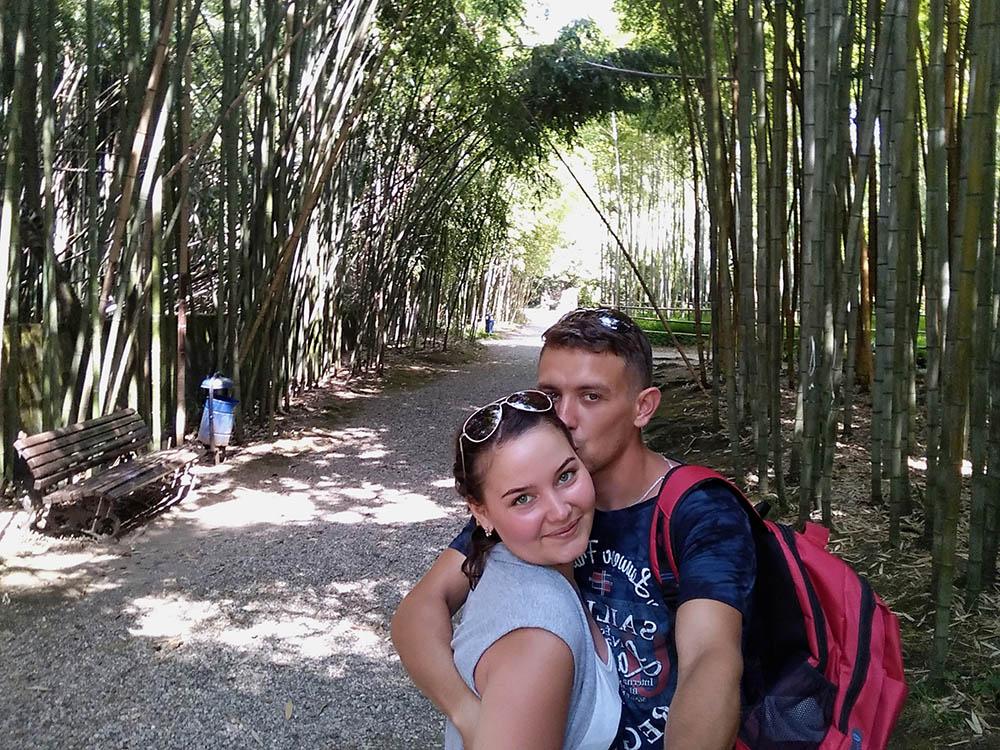 Мы в ботаническом саду в Сухуме. Вокруг ни одного экскурсовода — о растениях мы узнавали из табличек и интернета. Вход стоил 250 р.